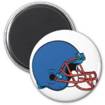 Blue & Red helmet Refrigerator Magnets