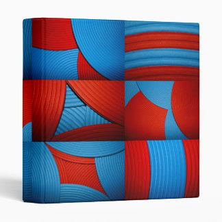 "Blue & Red Kaleidoscope 1"" Avery Binder"