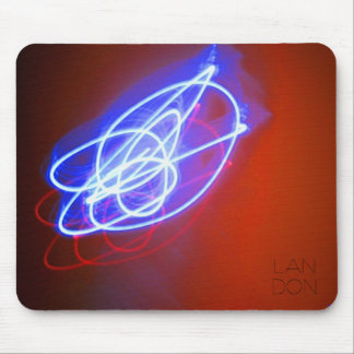 Blue, Red. Mouse Pad