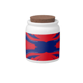 Blue red Ornaments Candy Jar