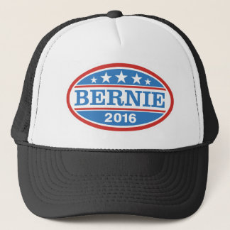 Blue/Red Oval Logo Bernie 2016 Trucker Hat