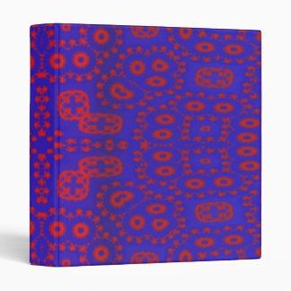 Blue red pattern 3 ring binders