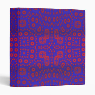 Blue red pattern vinyl binder