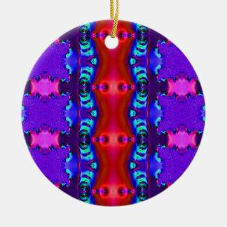 blue red pink ceramic ornament
