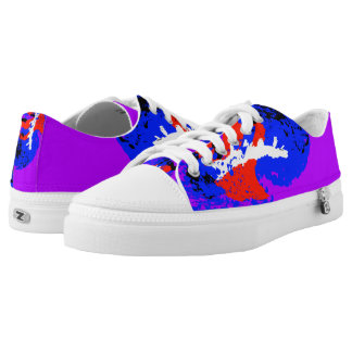 Blue Red Purple White Black Color Run Printed Shoes
