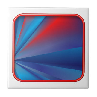 Blue-Red Rays Tiles