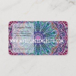 Blue Red Snowflake Kaleidoscope Business Card