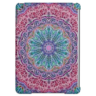 Blue Red Snowflake Kaleidoscope Case For iPad Air