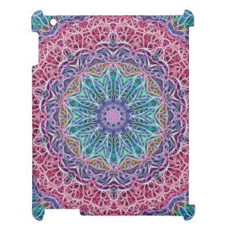 Blue Red Snowflake Kaleidoscope Case For The iPad