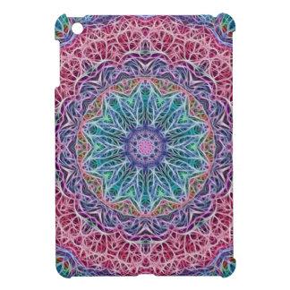 Blue Red Snowflake Kaleidoscope Case For The iPad Mini