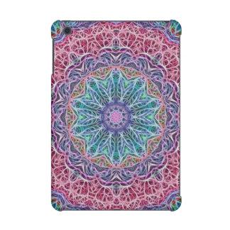 Blue Red Snowflake Kaleidoscope iPad Mini Case