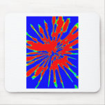 Blue Red Splash Abstract Design Mousepad