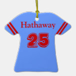Blue & Red Sports Jersey Ornament