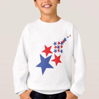 blue red star rain sweatshirt