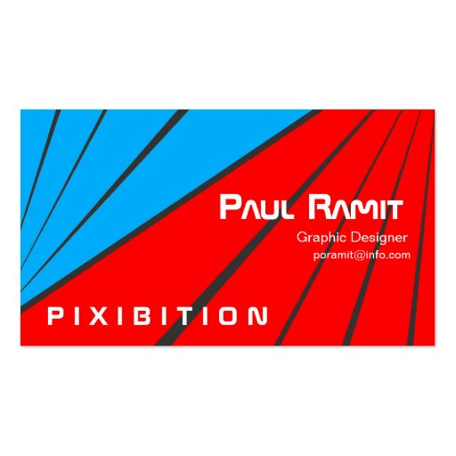 Blue Red Stripe Sport Business Card