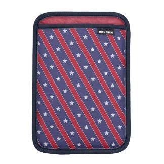 Blue Red Stripes Stars pattern Sleeve For iPad Mini