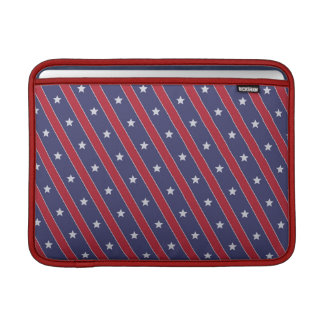 Blue Red Stripes Stars pattern Sleeves For MacBook Air