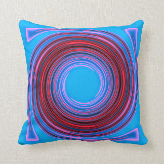 Blue/Red Swirl>Patterned Square Pillow