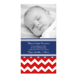 Blue Red Thank You Baby Shower Photo Cards