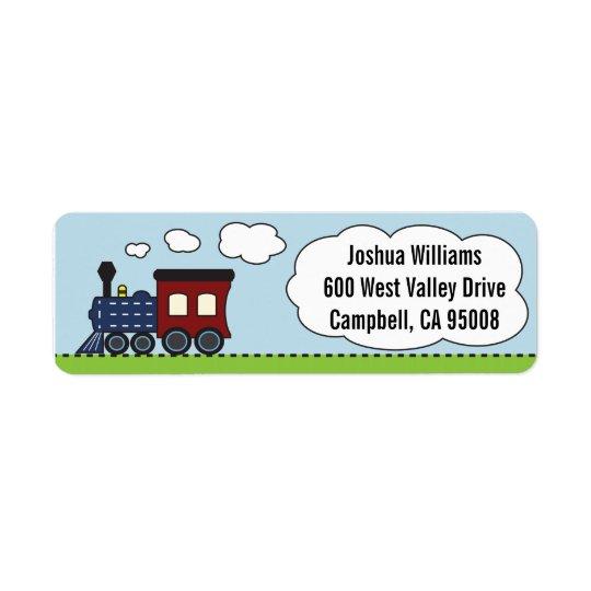 Blue/Red Train Address Labels