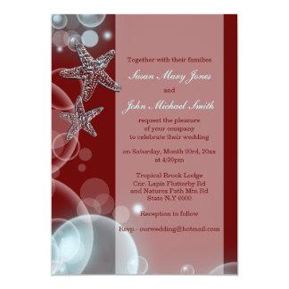 Blue red wedding engagement anniversary invites