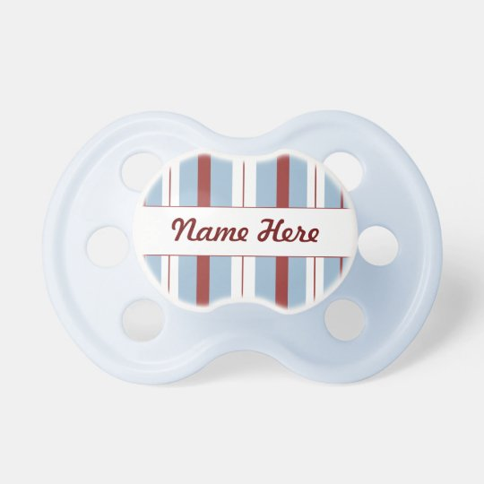 Blue, Red, & White Stripes Pacifier