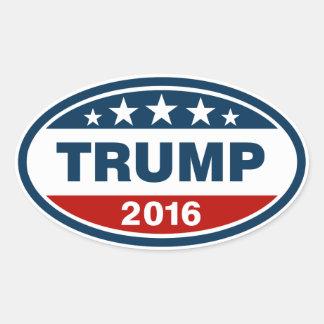 Blue/Red/White Trump 2016 Oval Sticker