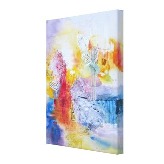 Blue Red Yellow Abstract Art Canvas