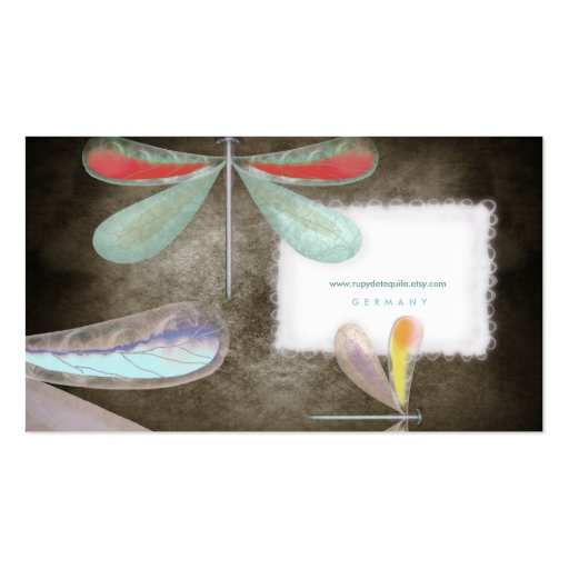 Blue red yellow butterfly night delicate silk Busi Double-Sided Standard Business Cards (Pack Of 100)