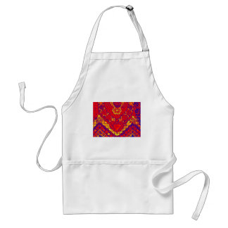 blue red yellow mosaic adult apron