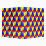 Blue Red Yellow Shaded 3D Look Cubes Binder