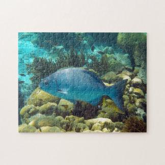 Blue Reef Fish Jigsaw Puzzle