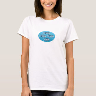 Blue Reef Fish Oval Logo T-Shirt