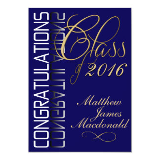 Blue Reflection 2016 Formal Graduation Party Card