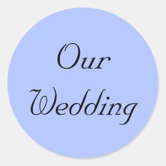 Blue Regency Our Wedding Stickers