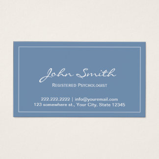 Blue Registered Psychologist Appointment Card