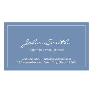 Blue Registered Psychologist Appointment Card Double-Sided Standard Business Cards (Pack Of 100)