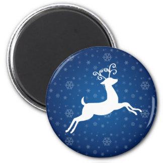 Blue Reindeer Magnet