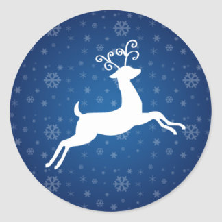 Blue Reindeer Stickers