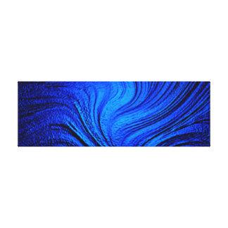 Blue relief canvas
