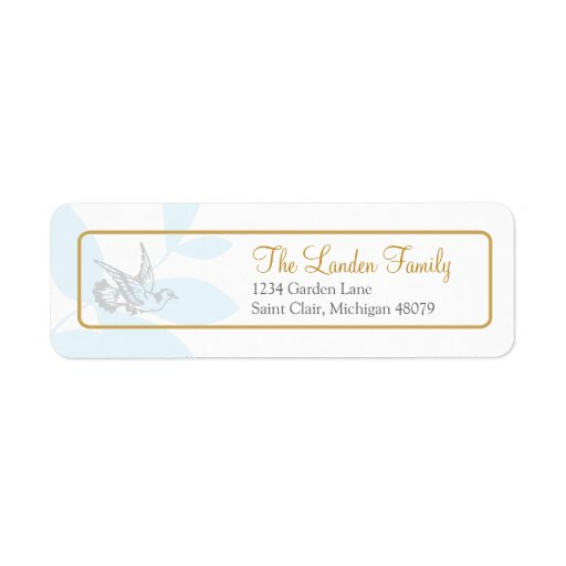Blue Religious Address Label