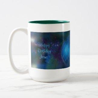 Blue Religious Saying Christmas Ornament Coffee Mug