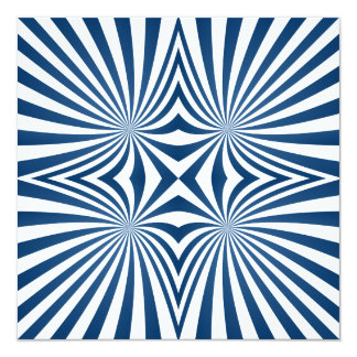 Blue repeating hypnotic pattern card
