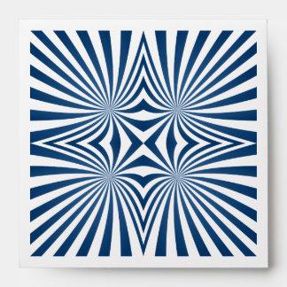 Blue repeating hypnotic pattern envelope