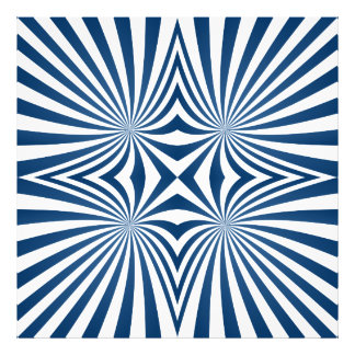 Blue repeating hypnotic pattern photo print