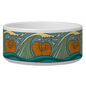 Beach Themed Blue Repeating Pattern Ocean Bowl