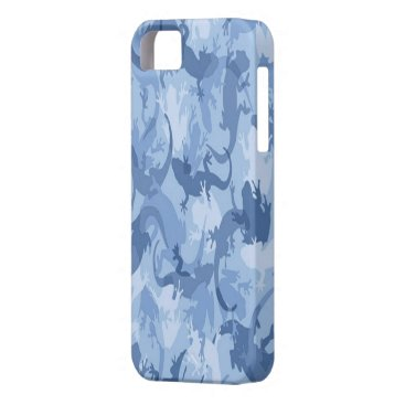 Blue Reptile Camouflage iPhone 5G Case