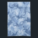 "Blue Reptile Camouflage Kitchen Towel<br><div class=""desc"">Give your kitchen a stylish, contemporary touch and charm with this decorative towel. Dish towels are especially helpful in the kitchen but they can also be a wonderful accent in the bathroom. Kitchen towels help create a joyful mood, special ambiance and comfort in the home and bring about a genuine...</div>"