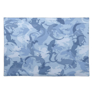 Blue Reptile Camouflage Placemat