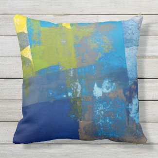 Blue Residue Pillow